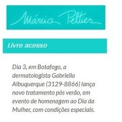 Dia 3, em Botafogo, a Dermatologista Gabriella Albuquerque lança novo tratamento pós verão