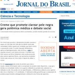 CREME QUE PROMETE CLAREAR PELE NEGRA GERA POLÊMICA MÉDICA E DEBATE SOCIAL