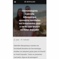 Veículo: Site Zé Ronaldo  Data: 19/08/2021